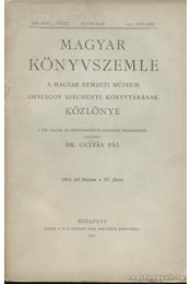 Magyar Könyvszemle 1913. IV. füzet - Régikönyvek