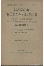 Magyar Könyvszemle 1914. II. füzet - Régikönyvek
