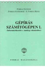 FA-59658 GÉPÍRÁS SZÁMÍTÓGÉPEN I. - FORRAI SÁNDOR ,  FORRAI SÁNDORNÉ - Régikönyvek