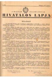 A Magyar Államvasutak hivatalos lapja 1972. évfolyam - Régikönyvek