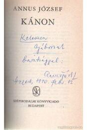 Kánon (dedikált) - Annus József - Régikönyvek