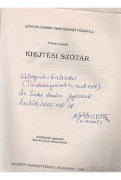 Kiejtési szótár (dedikált) - Fekete László - Régikönyvek