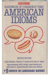 Barron's Handbook of Commonly Used American Idioms - Adam Makkai - Régikönyvek
