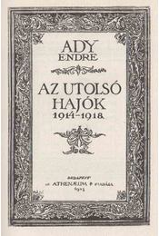 Az utolsó hajók - Ady Endre - Régikönyvek