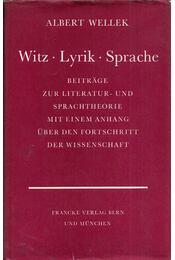 Witz, Lyrik, Sprache - Albert Wellek - Régikönyvek