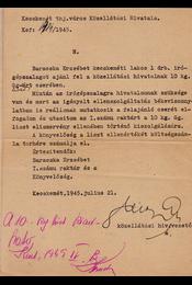 Alkalmi cserekereskedelmi engedély, 1945 júliusából. - Régikönyvek
