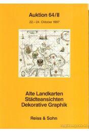 Alte Landkarten Stadteansichten Dekorative Graphik - Auktion 64/II 22. - 24. Oktober 1997 - Régikönyvek