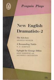 New English Dramatists 2. - Arnold Wesker, N. F. Simpson, John Osborne, Anthony Creighton - Régikönyvek