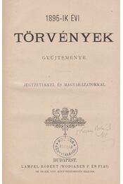 Az 1895-ik évi törvények gyűjteménye - Régikönyvek