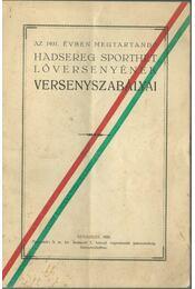 Az 1931. évben megtartandó hadsereg sporthét lóversenyének versenyszabályai - Régikönyvek