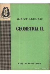 Geometria I-II. - Bárczy Barnabás - Régikönyvek