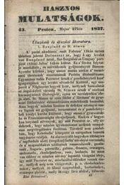 Hasznos mulatságok 1837/43. szám - Régikönyvek