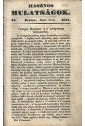 Hasznos mulatságok 1837/44. szám - Régikönyvek