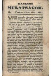 Hasznos mulatságok 1837/14. szám - Régikönyvek