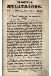 Hasznos mulatságok 1837/24. szám - Régikönyvek