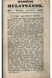 Hasznos mulatságok 1837./30. szám - Régikönyvek