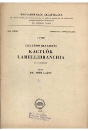 Kagylók - általános bevezetés1. füzet - Soós Lajos - Régikönyvek