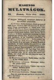 Hasznos mulatságok 1837/23. szám - Régikönyvek