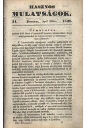 Hasznos mulatságok 1837/34. szám - Régikönyvek