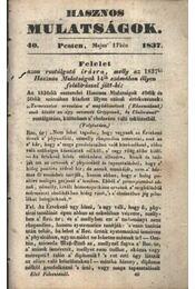 Hasznos mulatságok 1837/40. szám - Régikönyvek
