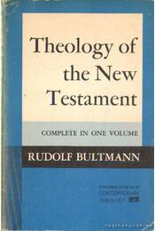 Theology of the New Testament (angol-nyelvű) - Bultmann, Rudolf - Régikönyvek