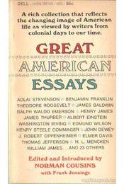 Great American Essays - COUSINS, NORMAN - Régikönyvek