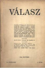 Válasz 1946. október VI. évf. 1. szám - Régikönyvek