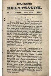 Hasznos mulatságok 1837/41. szám - Régikönyvek