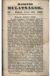 Hasznos mulatságok 1837/17. szám - Régikönyvek