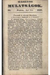 Hasznos mulatságok 1837./29. szám - Régikönyvek
