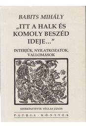 Itt a halk és komoly beszéd ideje - Babits Mihály - Régikönyvek