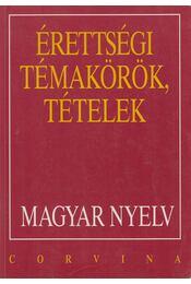 Érettségi témakörök, tételek - Magyar nyelv - Balázs Géza - Régikönyvek