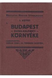 Budapest Duna-balparti környéke I. kötet - Barcza Imre, Thirring Gusztáv dr. - Régikönyvek