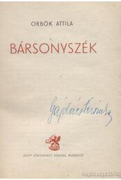 Bársonyszék - Orbók Attila - Régikönyvek