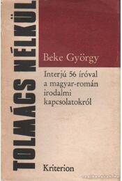 Tolmács nélkül - Beke György - Régikönyvek