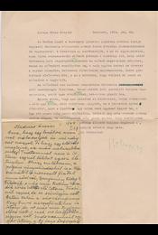 Veres Péter (1897–1970) egykori miniszter saját kézzel írt, két oldal terjedelmű levele Belia György (1923–1982) szerkesztőhöz - Belia György, Veres Péter - Régikönyvek