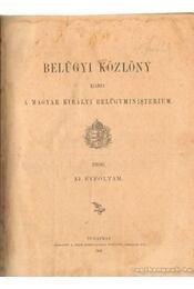 Belügyi közlöny 1906. XI. évfolyam - Régikönyvek
