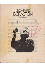 Leonard Bernstein (1918–1990) amerikai zeneszerző, karmester aláírása és portréja (1976) - Bernstein, Leonard - Régikönyvek