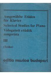 Válogatott etűdök zongorára III. - Bertini - Régikönyvek