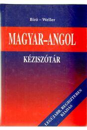 Magyar-angol kéziszótár - Bíró Lajos Pál, Willer József - Régikönyvek