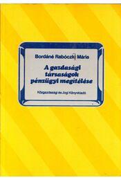 A gazdasági társaságok pénzügyi megítélése - Bordáné Rabóczki Mária - Régikönyvek