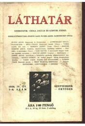 Láthatár - IV. évfolyam, 7-8. szám - Csuka Zoltán, Kántor József - Régikönyvek