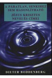 A páratlan, senkihez sem hasonlítható Jézus Krisztus nevei és címei - Boddenberg, Dieter - Régikönyvek