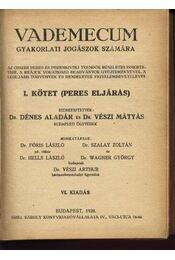Vademecum gyakorlati jogászok számára - Vészi Mátyás, Dénes Aladár - Régikönyvek