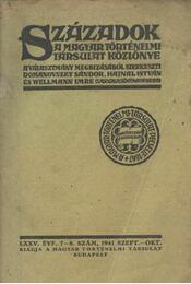 Századok LXXV. évfolyam, 7-8. szám - Domanovszky Sándor - Régikönyvek
