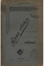 Róma ellen - Traubt - Régikönyvek