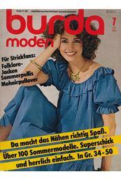 Burda Moden 1981/7 Juli (német nyelvű) - Régikönyvek