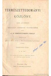 Természettudományi közlöny 11. kötet 113-124 füzet - Paszlavszky József, Szily Kálmán - Régikönyvek