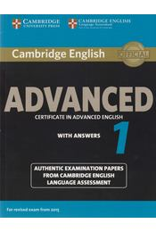 Cambridge English Advanced Certificate in Advanced English with Answers 1 - Régikönyvek
