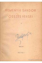 Reményik Sándor összes versei I-II. kötet - Reményik Sándor - Régikönyvek